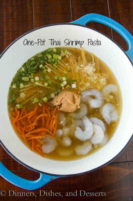 One-pot Thai shrimp pasta
