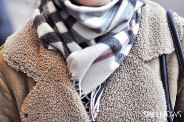 Wrap yourself in style with a plaid scarf.