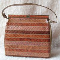 My choice: Vintage Structured Snakeskin Purse (Etsy, $25)