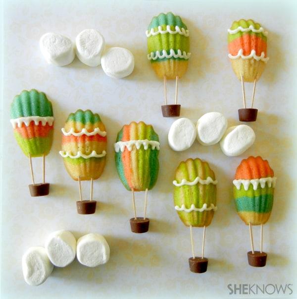 Hot Air Balloon Madeleine Cookies