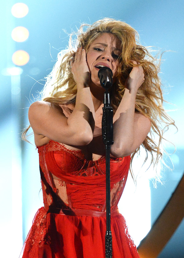 Shakira at the Annual Academy of Country Music Awards