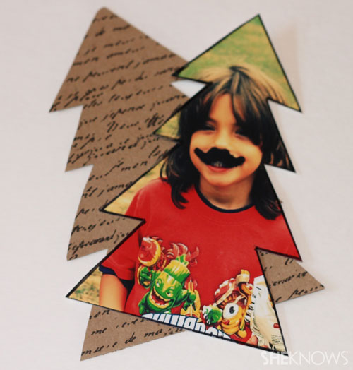 DIY photo placecards: Create background tree