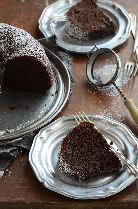 Cinnamon and orange-spiced chocolate zucchini cake