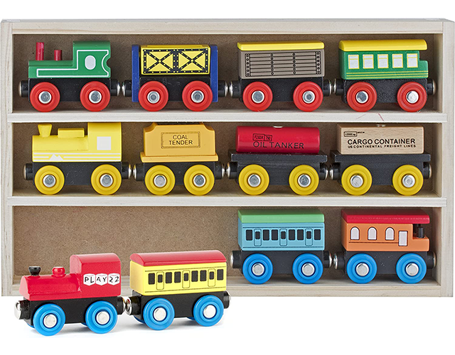 Play 22 Best Wooden Train Sets for Toddlers on Amazon