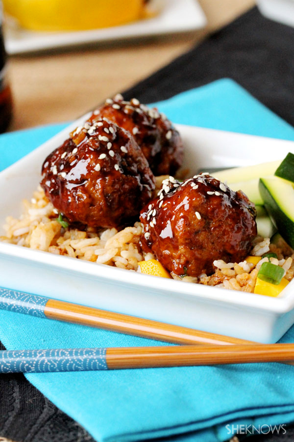 Teriyaki Mango and Apple Meatballs Recipe