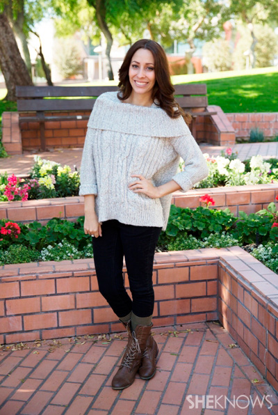 kohls sweater with boots