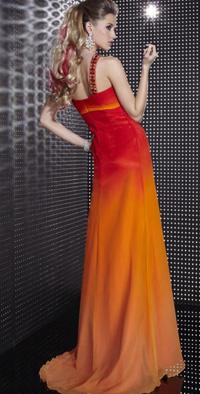 Fire hued taffeta dress from NextEve.com