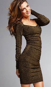 metallic ruched sweaterdress, $70, from Victoria's Secret