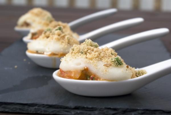 Shrimp and yuca bowl