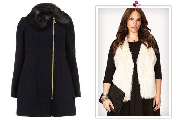 Glitzy holiday outfits for the plus-size woman -- Coats