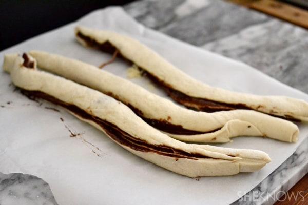 Chocolate twist bread in a jiffy