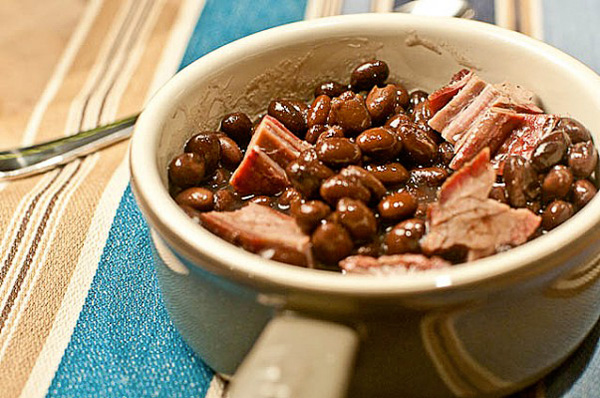 Black bean and smoked brisket soup