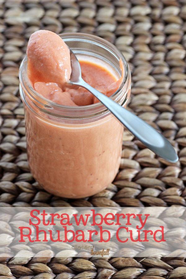 Strawberry rhubarb curd