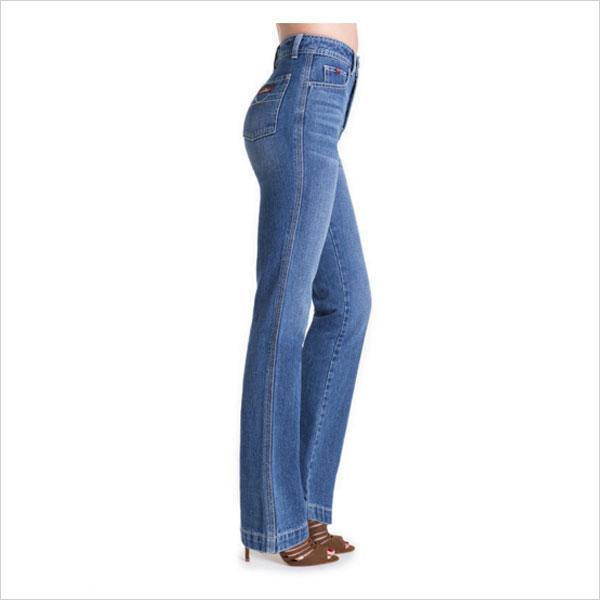 Hi-Rise straight leg jean