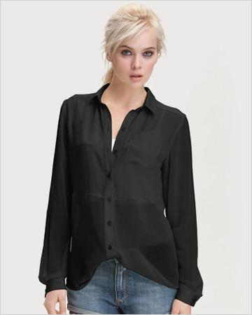 black sheer top