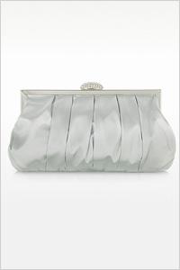 Julia Cocco Silver Mini Satin Clutch (Forzieri, $96)