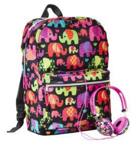 Elephant-print backpack