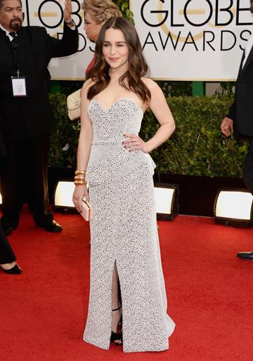 Emilia Clarke at the 2014 Golden Globes