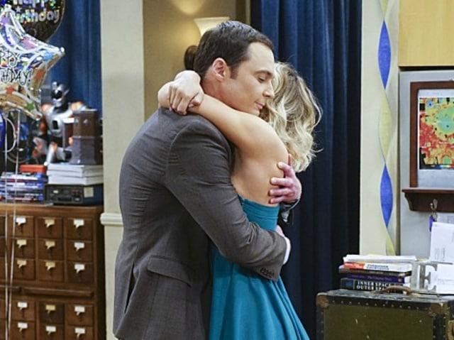 Big Bang Thoery's Penny and Sheldon hug