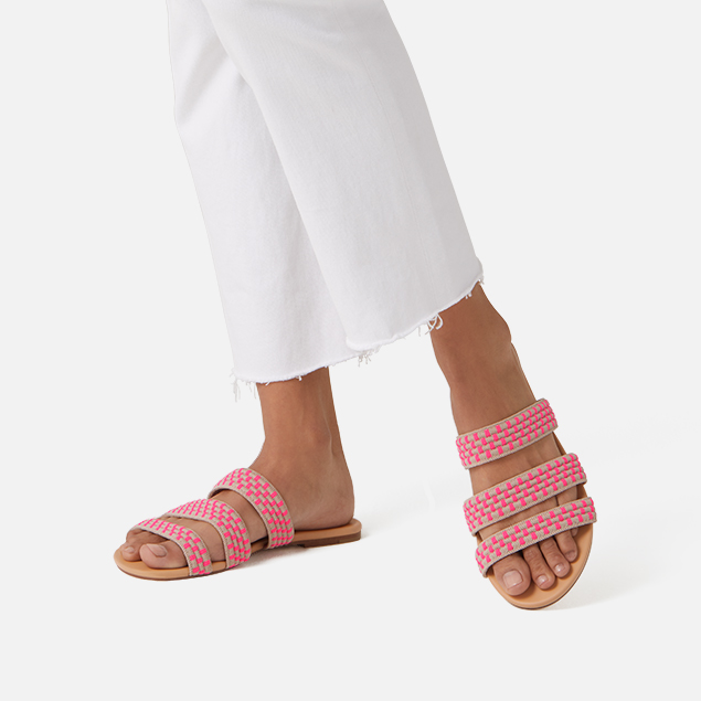 Rothy's Triple Band Sandals Pink