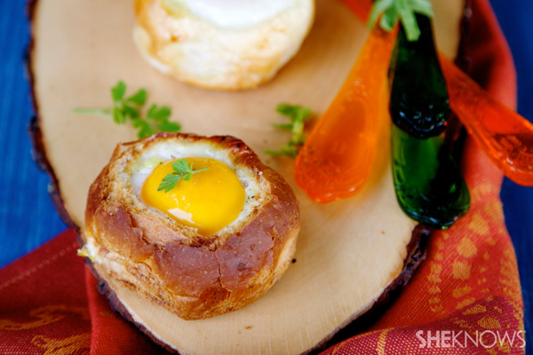 Ham & zucchini breakfast bread cups