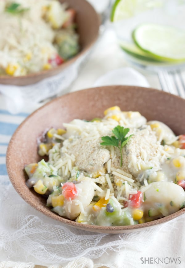 One-pot vegetable and Parmesan gnocchi