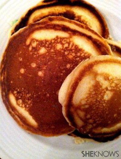 MY M&M's holiday pancakes