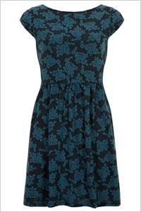 Teal Floral Jaquard Dress(Dorothy Perkins, $39)