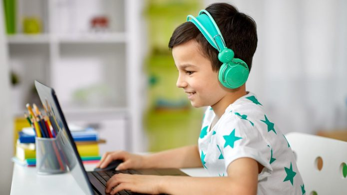 Kid on Zoom Video Chat