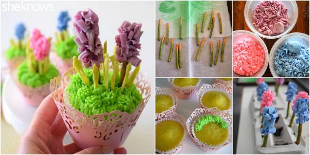 how to make hyacinth cupcakes