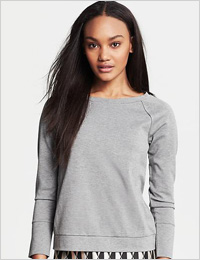 BR Monogram silk back sweatshirt (Banana Republic, $80)