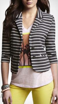 striped knit blazer from Express