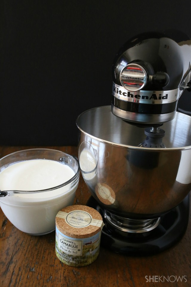 How to make homemade butter (in a stand mixer)