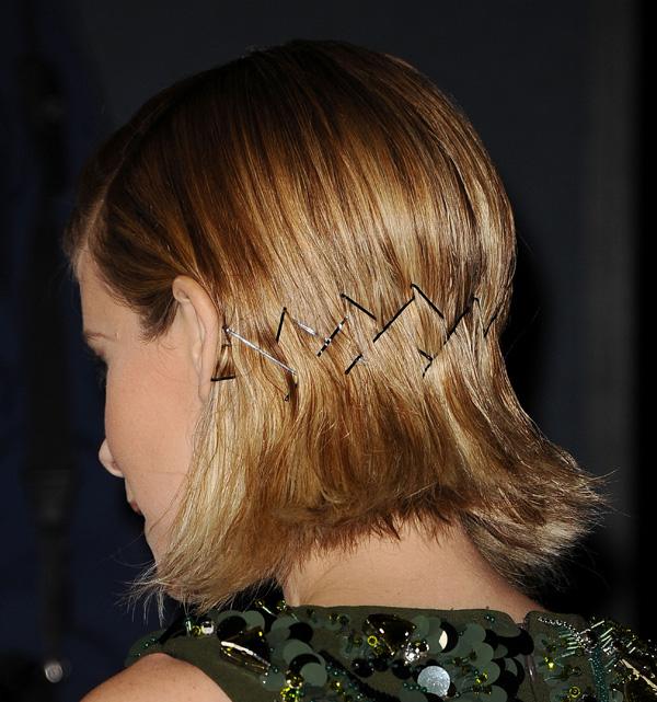 Kate Mara's bobby pin hair style