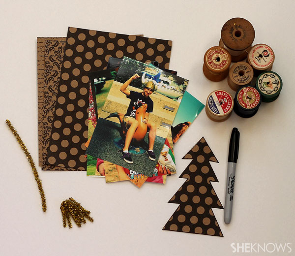DIY photo place cards: supplies