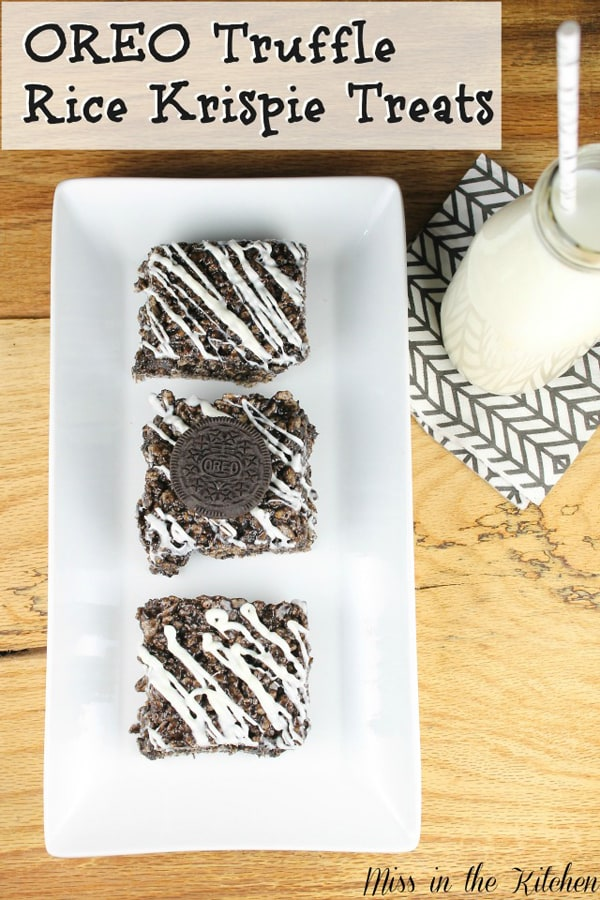 Oreo truffle rice krispies treats