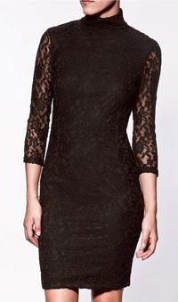 black lace pencil dress, $60, from Zara