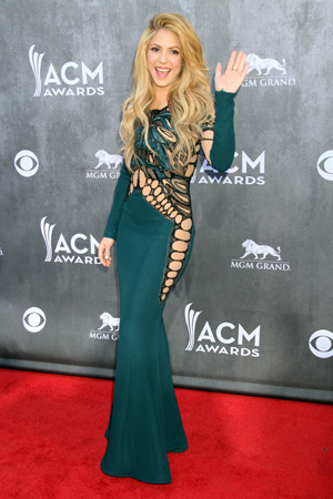 Shakira at the Annual Academy of Country Music Award