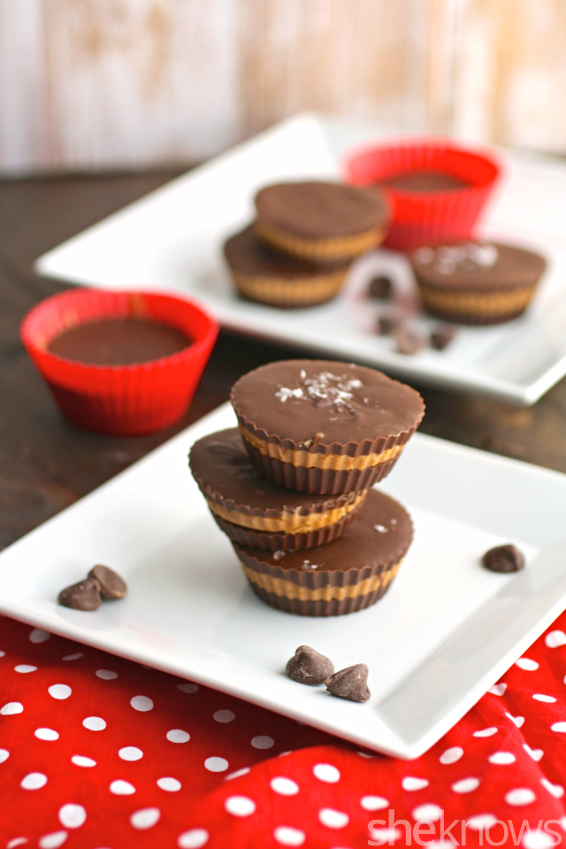 You'll love these easy-to-make treats! Gluten-free chocolate-almond butter cups with sea salt are a real treat!
