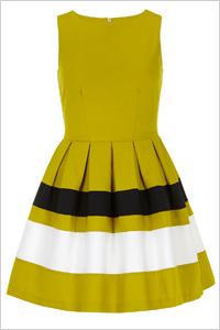 Lime Stripe Band Dress(Dorothy Perkins, $89)