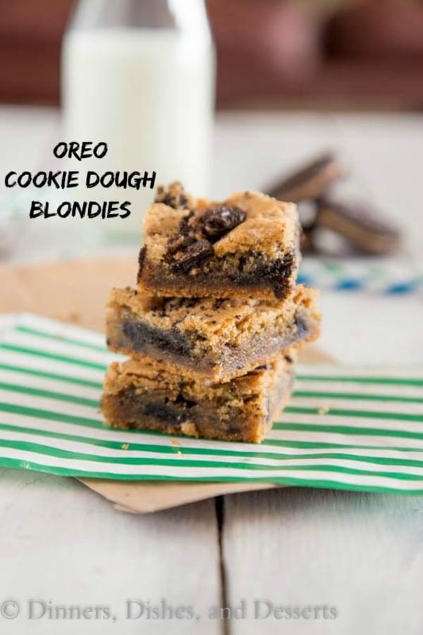 Oreo cookie dough blondies