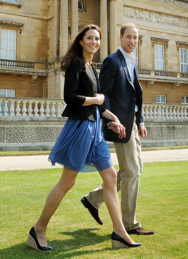 Kate's blue dress after the royal wedding