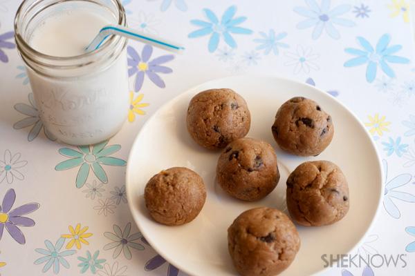 No bake chocolate chip cookie dough bites recipe