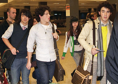 at the airport - The Jonas Brothers