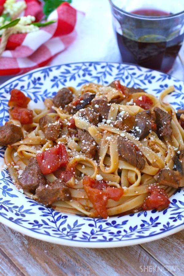 Pasta with beef ragu