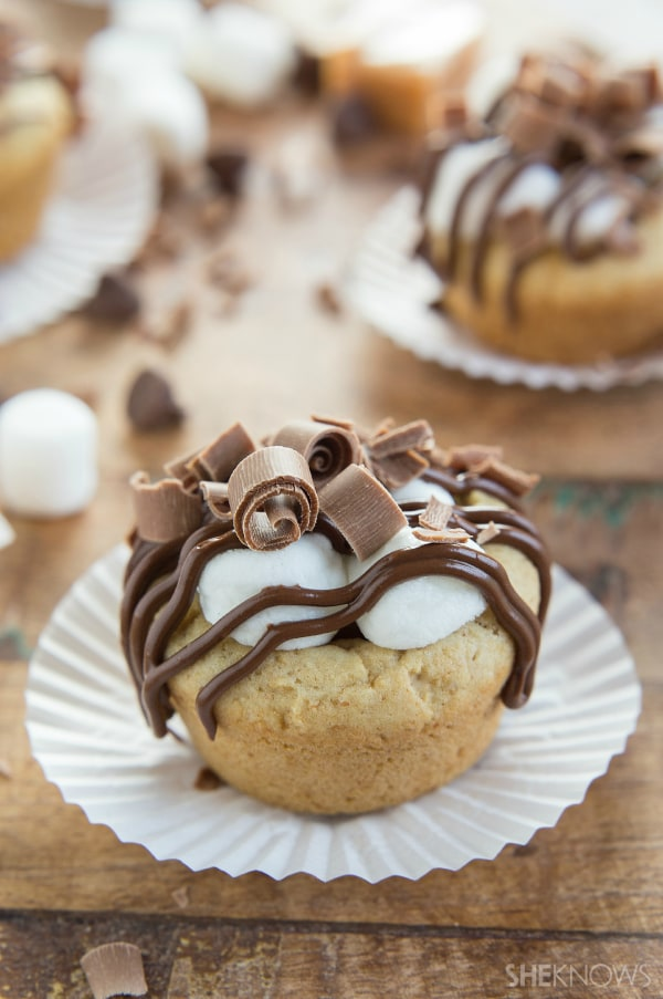S'mores cookie cup desserts