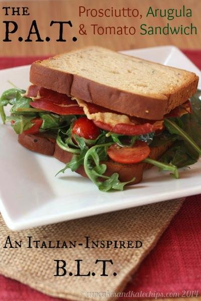 Prosciutto, arugula & tomato sandwich (Italian inspired BLT)