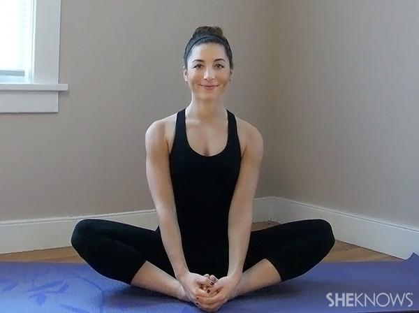 Top 5 pregnancy poses -- Baddha Konasana (bound angle pose)