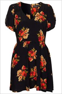 Autumn Floral Tea Dress(Topshop, $90)