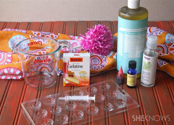 DIY Individual shower jellies